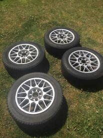 "Mazda MX5 MK1 14"" Alloy wheels and good tyres"