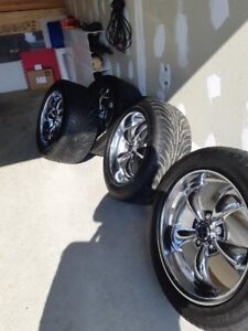 chrome rims and tires NEGOTIABLE