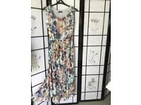 Plus size 22. Long sleeveless Maxi Sunray Pleat Dress size 22 from KALEIDOSCOPE
