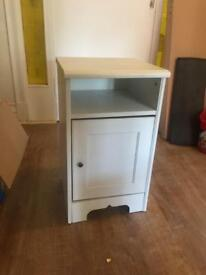 Sold - White bedside cabinet