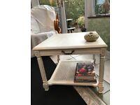Vintage look painted coffee table