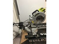 Guild 1700w 210mm sliding mitre saw with laser excellent condition