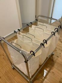 3 Bag Laundry Cart