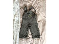 9-12m snow dungarees