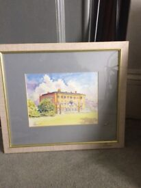 Framed picture watercolour painting