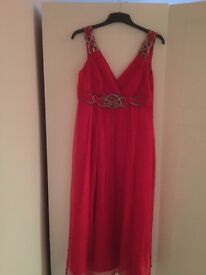 Red dress with silver detail