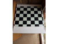 Glass chopping board/worktop saver