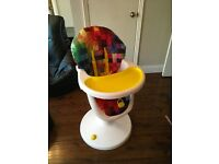Cosatto 3 Sixty highchair. 6 height positions. Excellent condition very modern and different