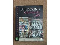 Unlocking Criminal Law - Jacqueline Martin, Tony Storey - 5th edition