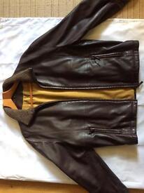 Men's medium Italian leather jacket