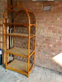 Rattan vintage shelves