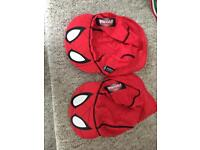 Two Spider-Man swim hats