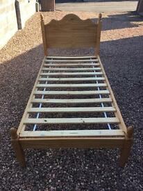 Single Pine Bed ( Can Deliver )