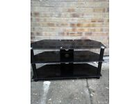 Shaped Black glass Tv table