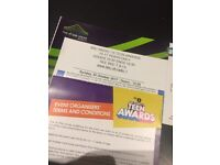 BBC Teen Awards Tickets x 4