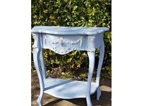 French style side table painted Annie Sloan