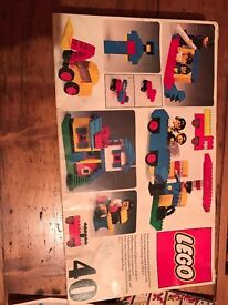 Lego set 40 and assorted bricks with construction book 221