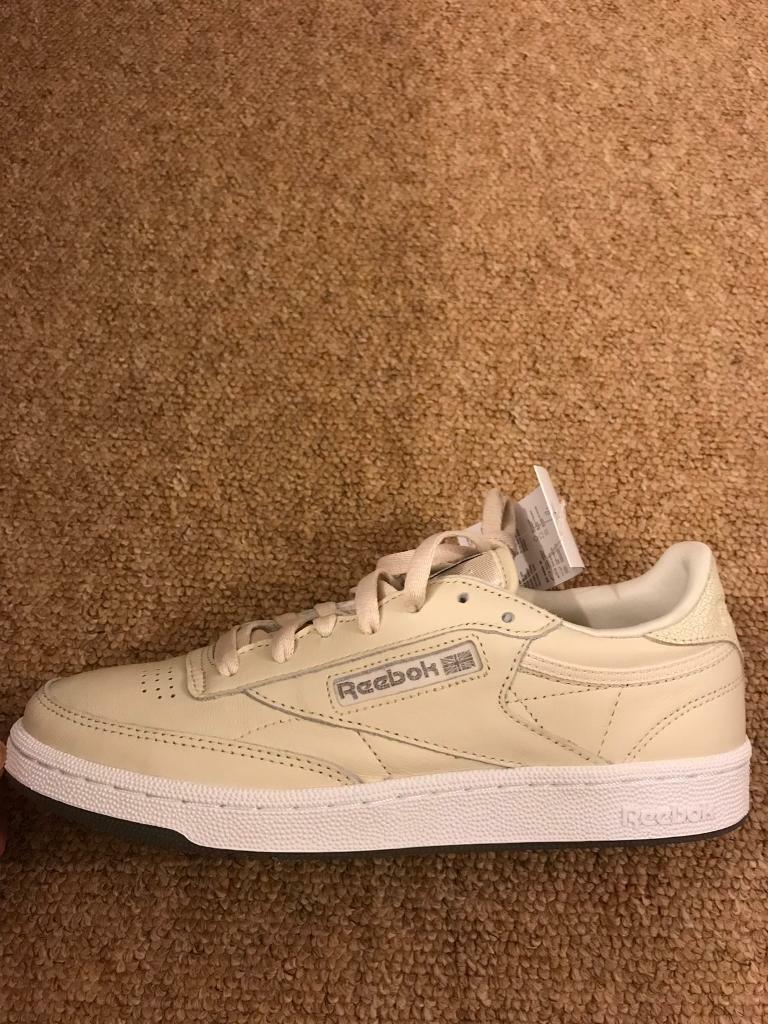 Reebok Classic Trainers Size 6 Uk 100% Leather New With Box RRP £65