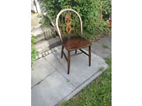 Vintage Retro Ercol Elm And Beech Stick Back Chair