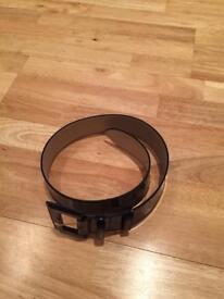 LK Bennett Black Patent Leather Waist Belt