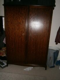 Quality Built Stag Minstrel Double Bedroom Wardrobe