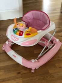 Baby walker- pink racing car