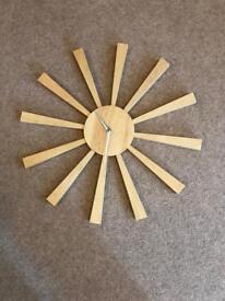 Next solid wood clock