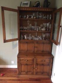 Ercol display bookcase cabinet