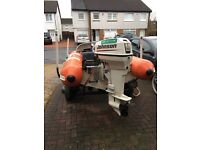 Flatacraft rib with 50hp Johnston