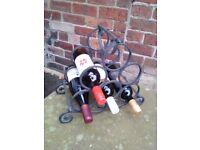 Heavy metal wine rack