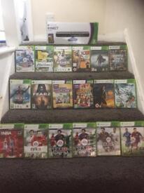 Xbox 360 Kinect sensor and games