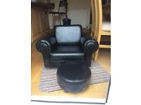 Child's armchair and foot stool