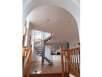 Spiral Wooden/metal stair case