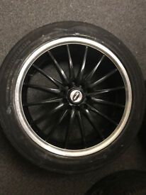 """17"""" TEAM DYNAMICS MONZA SET OF 4 RIMS WITH TYRES 5 STUD"""