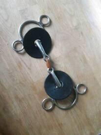 2 ring gag bit with copper lozenge