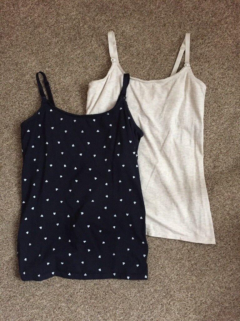 Hardly worn H&M MAMA nursing tops x2 size SMALL