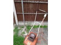 Two electric lawn mower