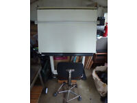 A0 Drawing Board with chair and foot rest