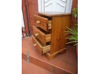 BARGAN .. SOLID PINE DRAWS / BEDSIDE TABLE