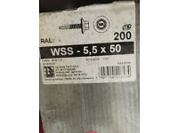 5.5 x 50mm Washered Pre-drill hex screws.