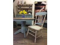 Complete dining suite dresser with table & 4 chairs