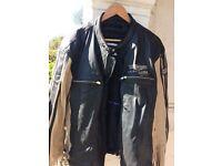 Men's leather designer jacket