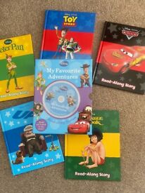 Disney Read along Cd and five books Jungle book, Peter Pan, Up, Cars and Toy Story