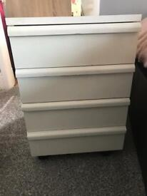 WHITE OFFICE DRAWERS TO GO UNDER DESK