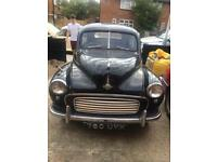 MORRIS MINOR 1954 SPLIT SCREEN 4 DOOR, RUNNING PROJECT