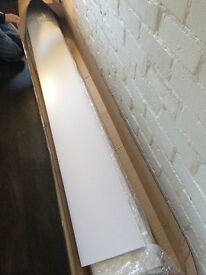5 x Matt White Ceiling/wall Cladding Panels 2.6m
