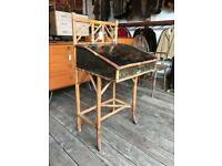 Antique Bamboo Davenport Desk