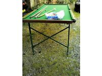 KIDS snooker table 6FT BY 4FT