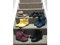 Large bundle of ladies boots