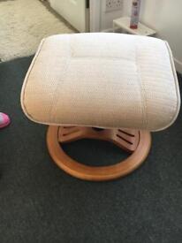 Velour footstool